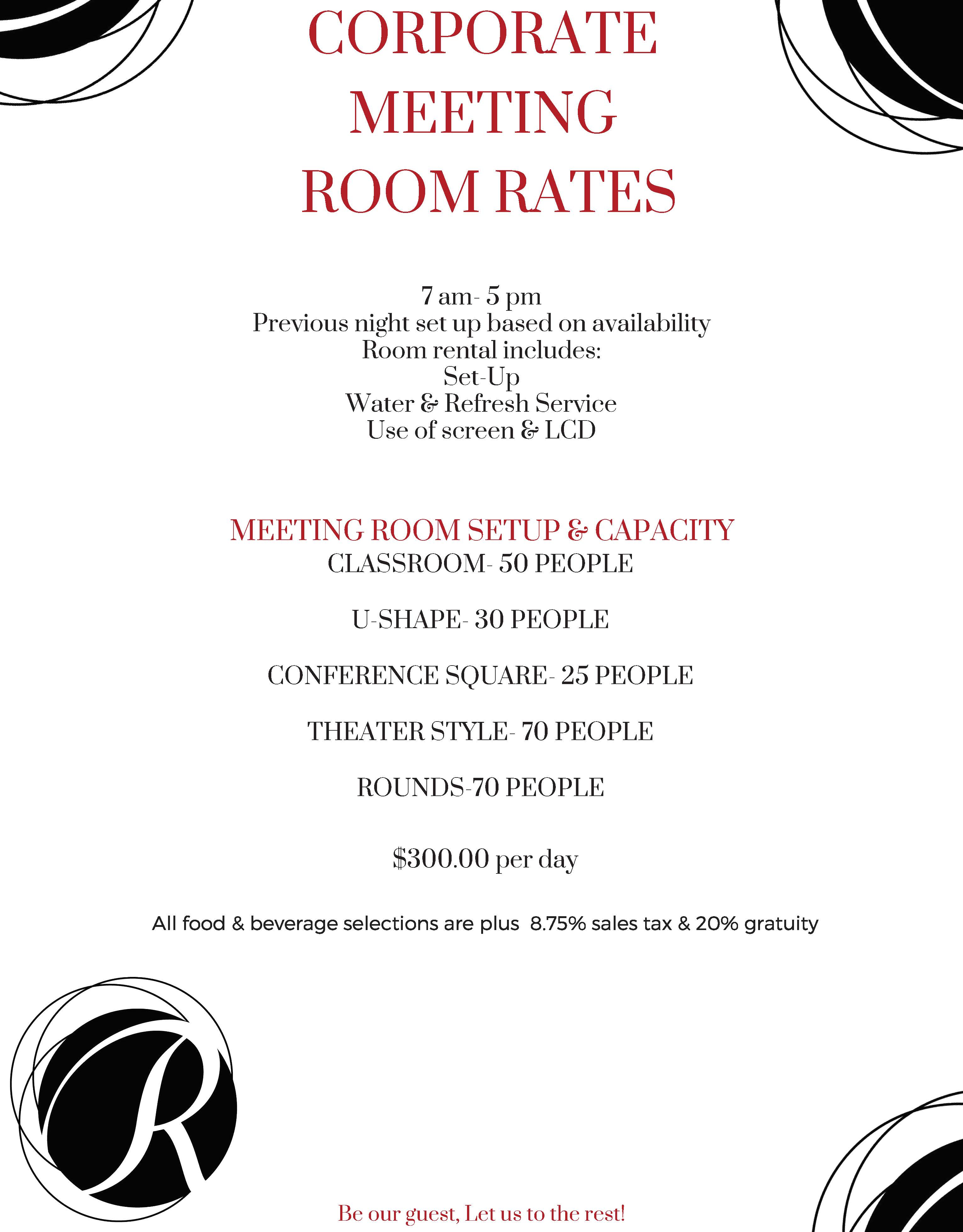corporate room rates
